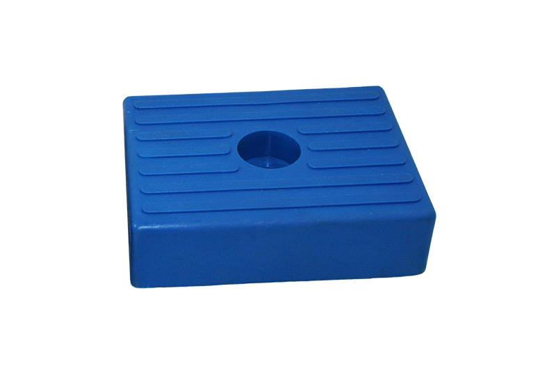 Polyurethane buffer block 130x100mm blue