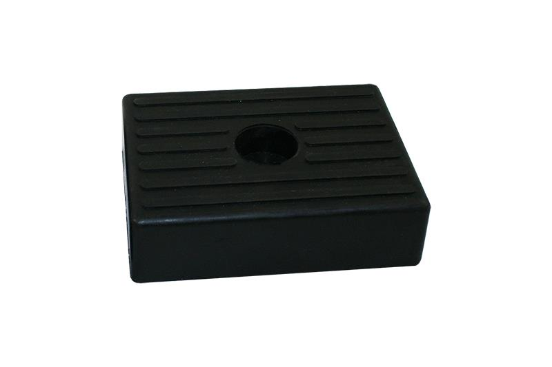 Rubber buffer block 130x100mm black