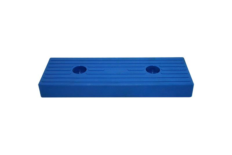 Polyurethane buffer block 300x100mm blue