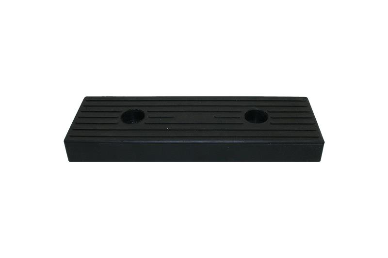 Rubber buffer block 300x100mm black