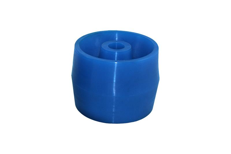 Polyurethane wobble roller 115x86mm blue