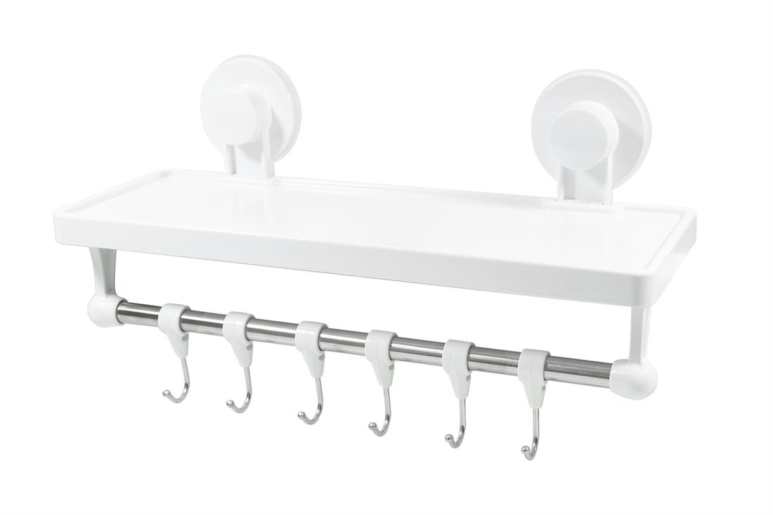 Estanto - Storage shelf with suspension hooks for the bathroom